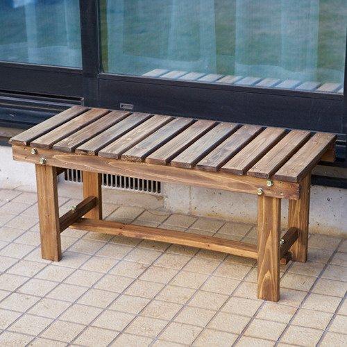 D2オリジナル 木製縁台 90cm