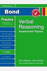 Bond Verbal Reasoning Assessment Papers 7-8 years Paperback