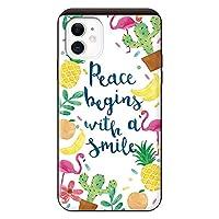 iPhone11 iPhoneケース (ハードケース) [カード収納/耐衝撃/薄型] Pace begins with a smile スマホケース 携帯電話用ケース アイフォンケース CollaBorn
