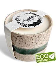 Edithコレクション8.5 Oz – 100 %大豆Hyggeキャンドル、再利用可能なセラミック+テラコッタプランターポットコンテナ、Eco Friendly、エッセンシャルオイル、有機香り、非GMO Wildflower...