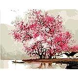 Colour Talk Diy Painting, Paint By Number Kit- Misty Rain 16*20 Inch.