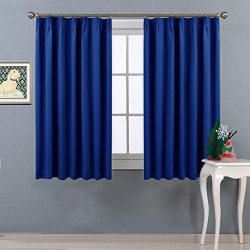 NICETOWN 遮光カーテン 2枚セット ローヤルブルー ...