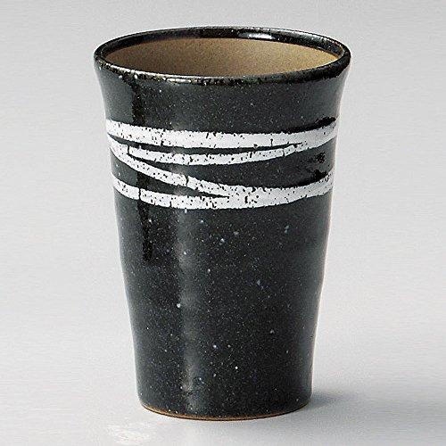 天目白ライン半ビスクビアカップ [7.9 x 11cm 240�t 240g] 【フリーカップ】   料亭 旅館 和食器 飲食店 おしゃれ 食器 業務用