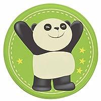 円形マット 可愛い パンダ柄 子供用 プレイマット ベッドルームマット 床暖房 足拭き 泥落とし 滑り止め 洗える 汚れにくい 滑り止め 吸水 汚れにくい デスクマット チェアマット 玄関 キッチン エントランス 白 緑 55*55cm