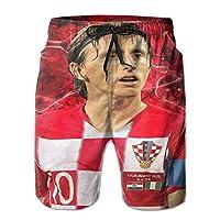 最新のメンズショーツ、ビーチパンツ Croatia Luka Modric 夏のメンズビーチショーツ、涼しく通気性、カジュアルなファッション