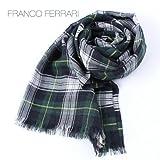 グリーン(C60) F FRANCO FERRARI フランコフェラーリ 大判ストール 1313CF JQ555(グリーン)