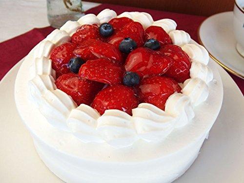 神戸スイーツ いちごショートケーキ ホール5号(5-6人分) (バースデーケーキ メッセージプレート&キャンドル付き 誕生日ケーキ バレンタイン)