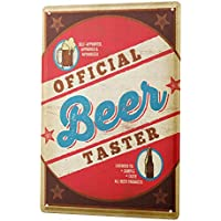 Beer Tin Sign ブリキ看板 Retro Deco Official Beer Tester Fun Party Room Wall Vintage