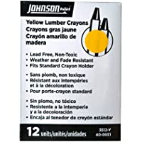 Johnson Level & Tool Lumber Crayons, Yellow, 12-Pack #3512-Y by Johnson Level & Tool