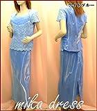 ライトブルー 水色 4XL  大きいサイズパーティードレス 大きいサイズ ロングドレス ミセス ステージ衣装 カラオケ コーラス衣装 演奏会用ドレス 発表会 選べるカラーサイズ【601-p3】