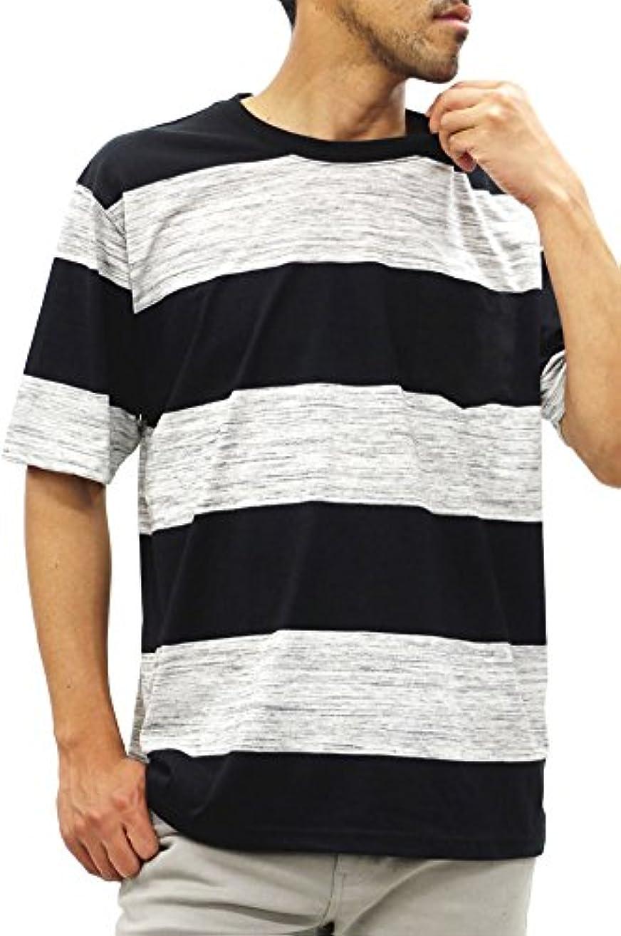 炭素舗装資金[コントライブ] 大きいサイズ メンズ Tシャツ 半袖 ボーダー ポケット付き