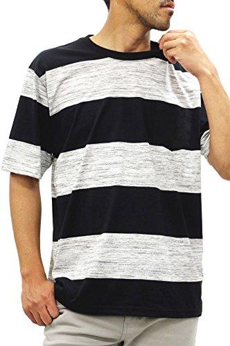 [コントライブ] 大きいサイズ メンズ Tシャツ 半袖 ボーダー ポケット付き