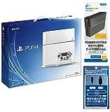 PlayStation 4 グレイシャー・ホワイト 500GB (CUH1100AB02)【Amazon.co.jp限定】特典CYBER 本体保護フィルム&USB2.0コントローラー充電ケーブル4m付