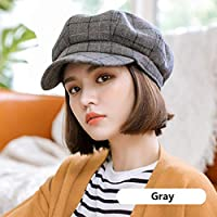 冬レディーベレッツの女性の帽子暖かい古典的な格子を保つ複数色シンプルで多目的 (色 : B, サイズ さいず : 56-58cm)