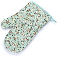 TOOGOO ( R ) 2つのセット耐熱手袋 耐熱コットンキッチンポットホルダー[装飾キッチンオーブンミット]オーブングローブ キッチン耐熱手袋( Floweredカラフル) ブルー 129422A2