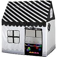 springbuds KidsブラックandホワイトKidsインドアアウトドアPlayhouseポータブルPlay Tent for Children