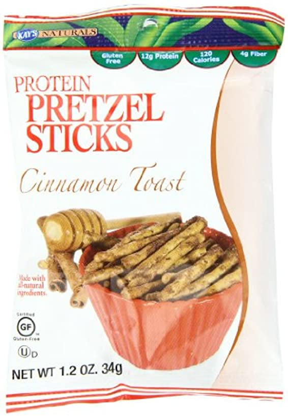 びっくりする怠惰モーターKay's Naturals Protein Pretzel Sticks, Cinnamon Toast, 1.2 ounces (Pack of 6) by Kay's Naturals [並行輸入品]