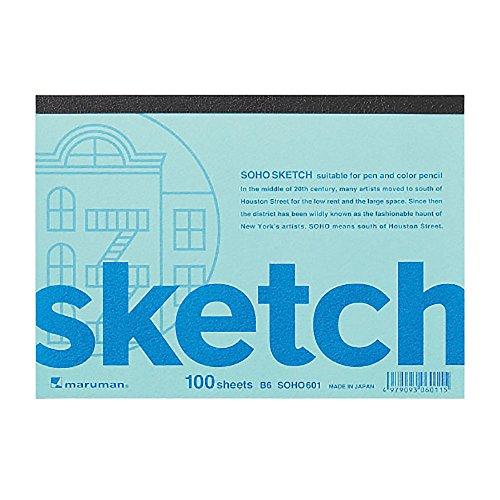 スケッチパッド SOHO B6変形 100枚 SOHO601 2冊