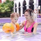 Free Swimming Baby アームリング 大人(90kg以下)子供用浮き輪 (浮輪) インフレータブルアームバンド 腕輪 アームヘルパー 2個セット 水泳用品(オレンジ, M)