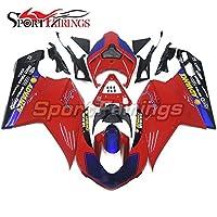 SPMOTO オートバイ外装部品フェアリングフィットドゥカティドゥカティ 1098 848 1198 2007-2012 アドバンス赤と青のエンクロージャ無料ギフト