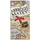 "Beistle 54716 Treasure Map Door Cover, 30"" x 5', Multicolor"