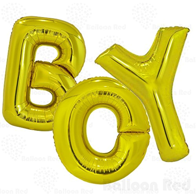 (100cm , Matte Gold, BOY) - 100cm Helium Foil Mylar Balloons (Premium Quality), Matte Gold, Letters BOY