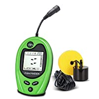 VECTORCOM Wired Fish Finder Portable Fishfinder Fishing finder with LCD display. suitable for ice fishing.(Green01) [並行輸入品]