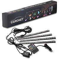 CARCHET-LEDテープ イルミネーション LEDテープライト サウンドコントロール 防水高輝度フルカラー 30CM*4本