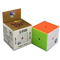 cuberspeed Yuxin Golden Kylin 2x 2StickerlessマジックキューブYuxin 2x 2x 2スピードキューブパズル