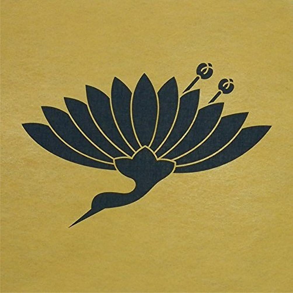 柱気を散らす農夫ステンシルシート 菊鶴 家紋 2サイズ型紙  (30cm)