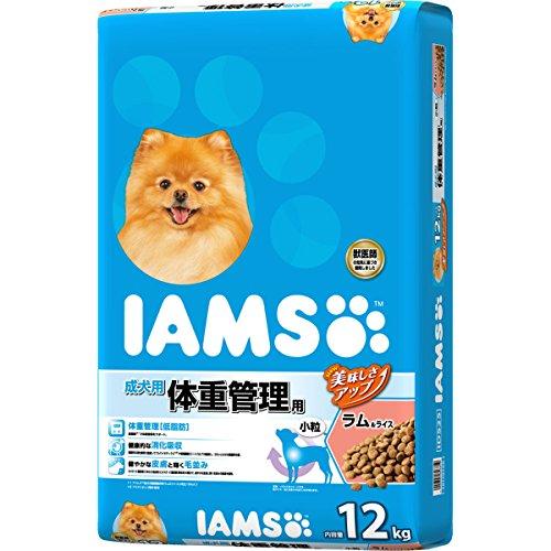 (IAMS) 成犬用 体重管理用 ラム&ライス 小粒 12kg ドッグフード