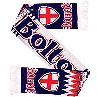 ボルトンの放浪者のフットボールのファンのスカーフ(100%アクリル)
