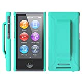 Apple iPod nano 7 ケース クリップ ハード カバー MY WAY™ 7th PC Clip Case + 保護 フィルム Mint Green 緑