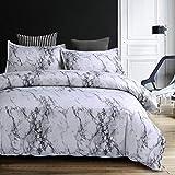 Premium 3 in 1 All Size Stone Grain Simple Plain Coloured Duvet/Quilt Cover Set Beding Set 2 Pillowcases (Super King, Grey)