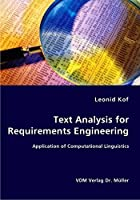 Text Analysis for Requirements Engineering: Application of Computational Linguistics