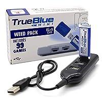 The perseids True Blue Mini Crackhead Pack USB フラッシュ ドライブクラシック用 4ポートハブ付き 64GB ゲームメモリースティック - 99ゲームが含まれる(Weed Pack)
