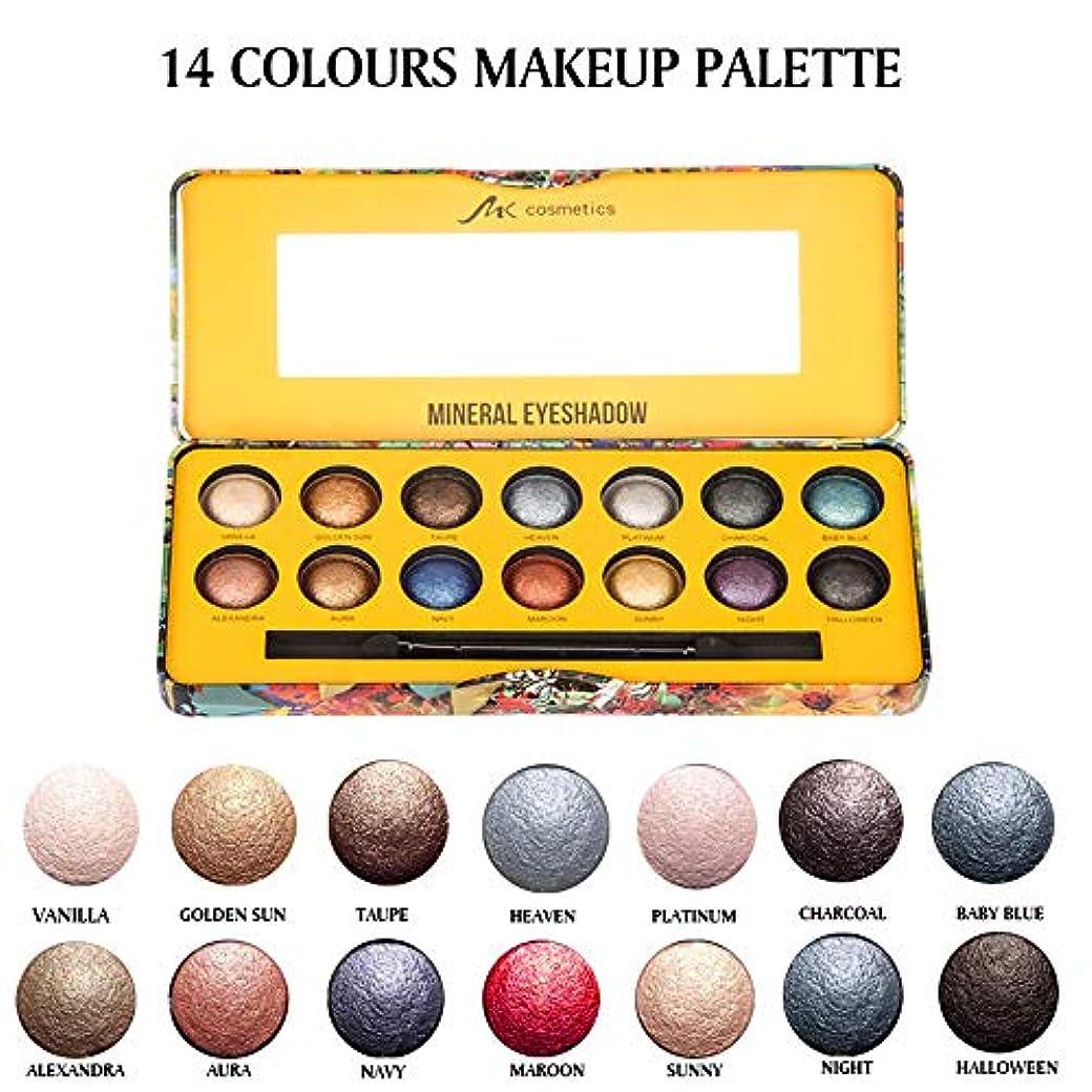 ガチョウ縫い目楽しませる14色マットパールライトアイシャドーパウダーパレットマットアイシャドー化粧品M