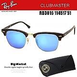 Ray-Ban クラブマスター レイバン サングラス 国内正規商品 RB3016 114517 51 Ray-Ban ミラー クラブマスター