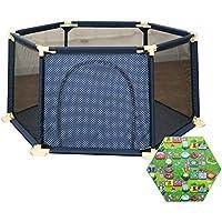 赤ちゃん遊び場マットレス幼児の安全性遊び場アクティビティセンタードア6付きパネル衝突防止アンチロールオーバー (サイズ さいず : 180×66.5cm)