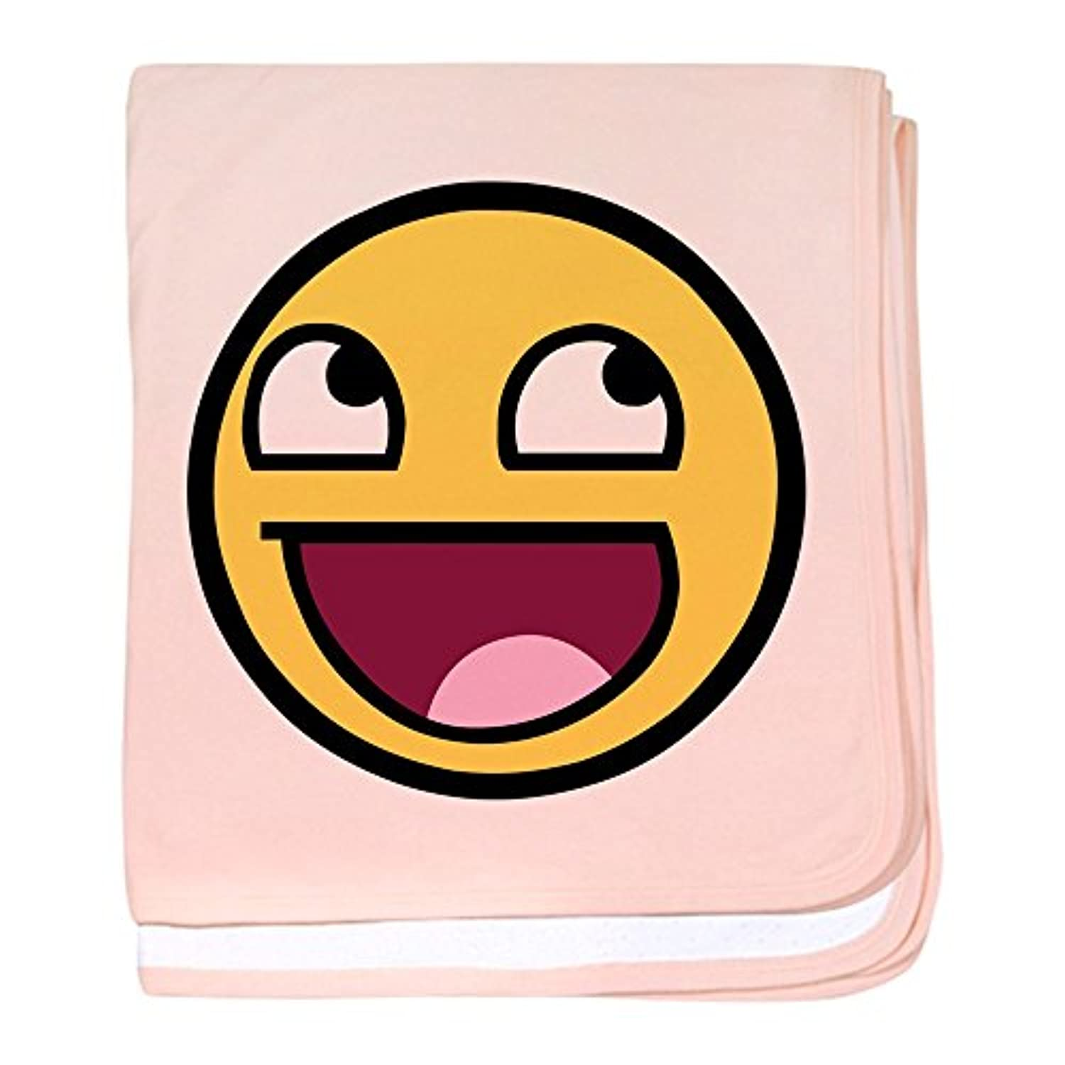 CafePress – Awesome Face – スーパーソフトベビー毛布、新生児おくるみ ピンク 06178612606832E