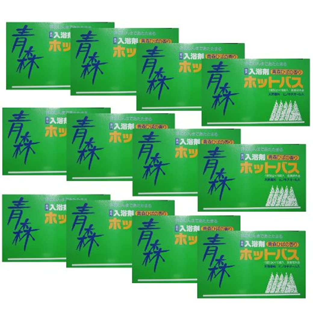 放送定数強化青森ひば薬用入浴剤 ホットバス 10錠×12箱