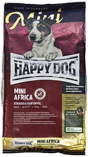 ハッピードッグ ミニ アフリカ(ダチョウ) グレインフリー 食物に敏感な小型犬のアレルギーケア 成犬-高齢犬用 小粒 1kg