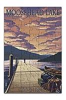 Moosehead湖、メイン州–Dock and Sunsetシーン( 8x 12プレミアムアクリルパズル63ピース)