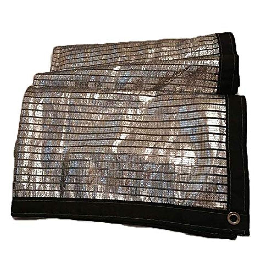 灰先駆者支配的防水シートの網掛け、反射アルミホイルは屋根の窓枠の土台の屋外のテラスの日よけの布が付いている日除けの布 (Size : 4*4M(13.1*13.1ft))