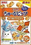 チャオ (CIAO) 猫用おやつ ちゅ~るビッツ かつおバラエティ M サイズ