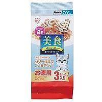 アイリスオーヤマ 美食メニュー ツナ一本仕込み しらす入りゼリー仕立て 猫用 60g×3パック P-BI60SJ