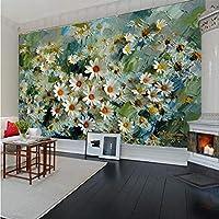 Lcymt カスタム3D写真の壁紙壁画花の立体油絵リビングルームテレビの背景ウォールペーパー家の装飾プリント壁アート-350X250Cm