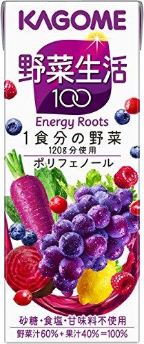 カゴメ 野菜生活100 エナジールーツ 200ml×24本