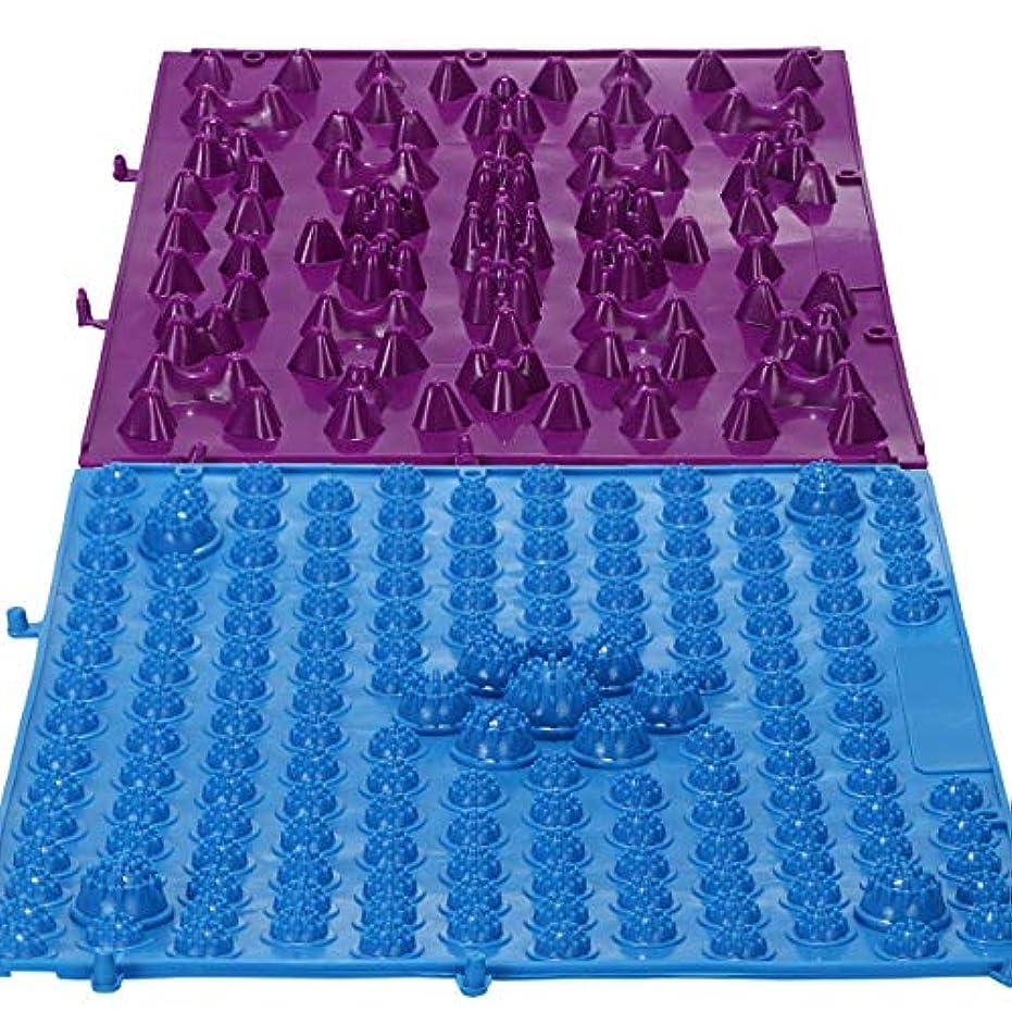 重要な役割を果たす、中心的な手段となる寺院ルーキーまがり堂【元気を呼び戻せ「足つぼキャニオンマット」】(選べる5タイプの足つぼマット)(2枚組)【SOFTブルー/HARDパープル】