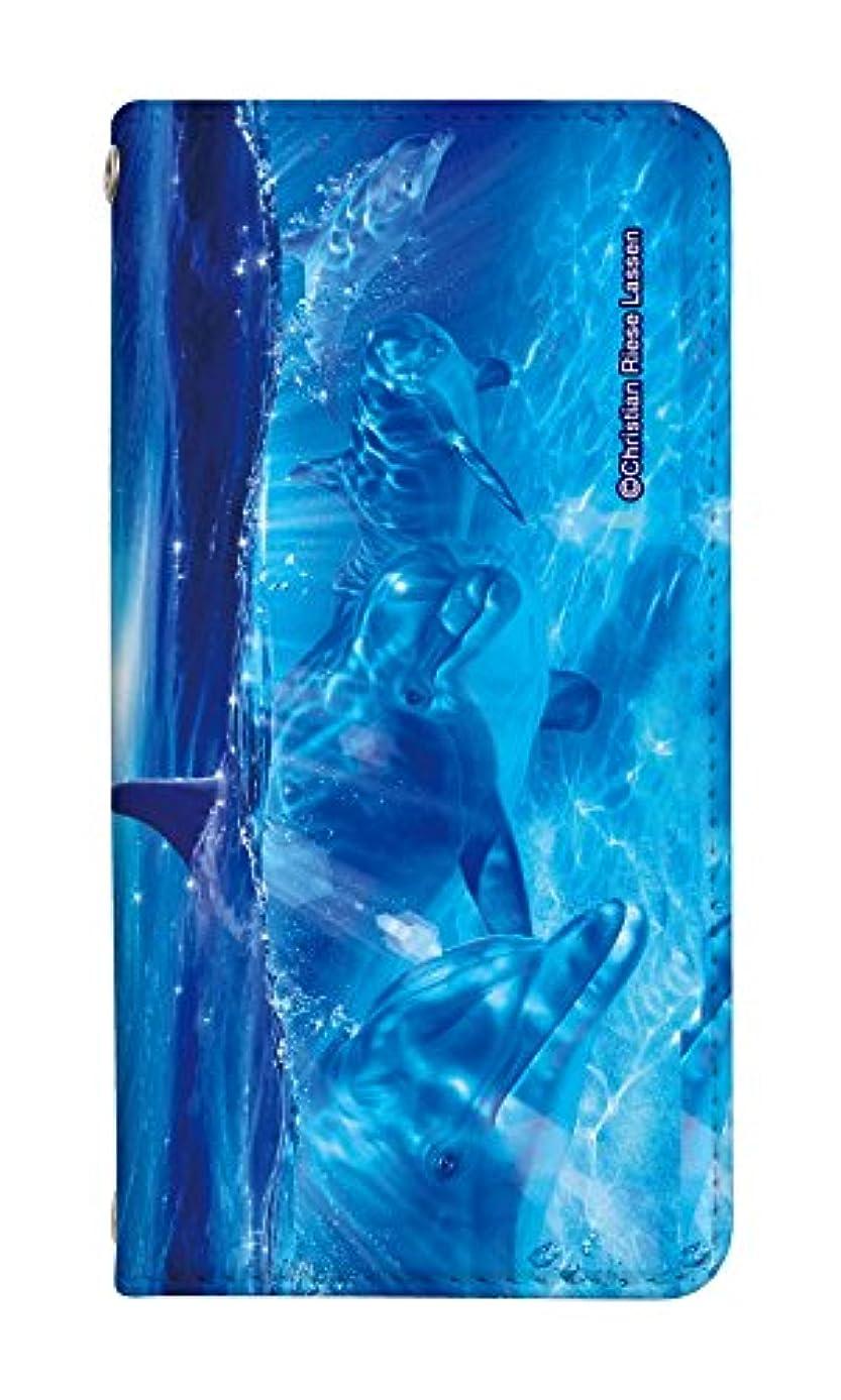 修理可能中絶の配列手帳型 スマホケース freetel rei ケース おしゃれ 人気 クリスチャンラッセン 0138-B. OCEAN ANGELSⅡ フリーテル 麗 ケース 手帳 [FREETEL REI] フリーテル レイ ベルトなし